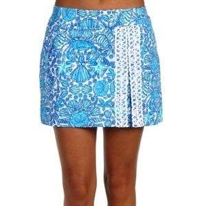 NWT Lilly Pulitzer Jarvey Skort in Shorely Blue